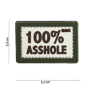 Patch - 100% asshole sand/green