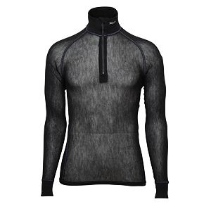 Funkční rolák Brynje Wool Thermo Light Zip-polo Black