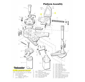 Dillon XL650 Platform Parts Slide & Cam Assembly (includes 1,2,5,9,13,14,15)