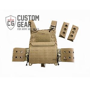 Nosič plátů Custom Gear CGPC3 TQS SET - coyote