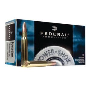 kulový náboj Federal Power Shock 270Win. Soft Point RN 150gr