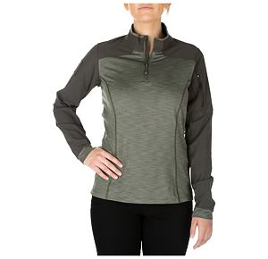 5.11 Wm Rapid Half Zip - 831 Sage Green